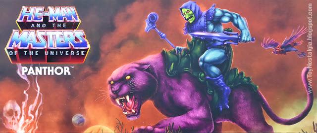 PANTHOR  Detalle Ilustración frente Francisco Etchart (Fetch)+Axel Gimenez Masters Of The Universe Origins (MOTU ORIGINS MATTEL)