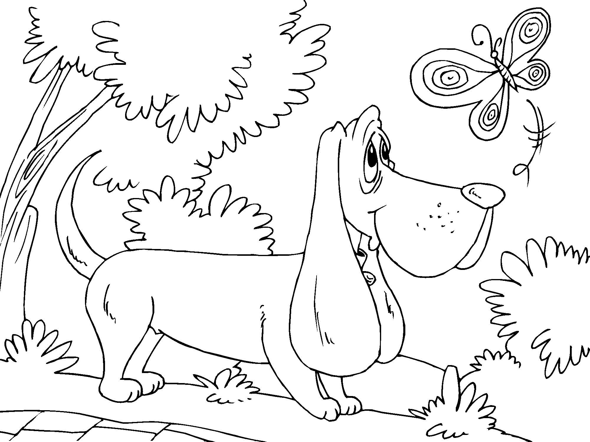 Dogs coloring pages 95