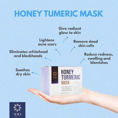 Kulit Cerah Berseri Dengan Honey Turmeric Mask Aura New You