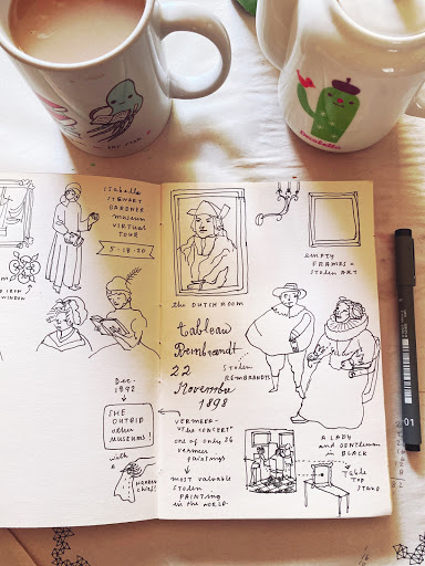 Taking some visual notes in my sketchbook