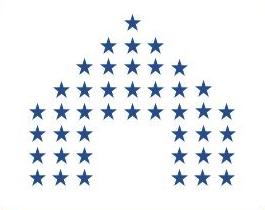 C program print hut star pattern