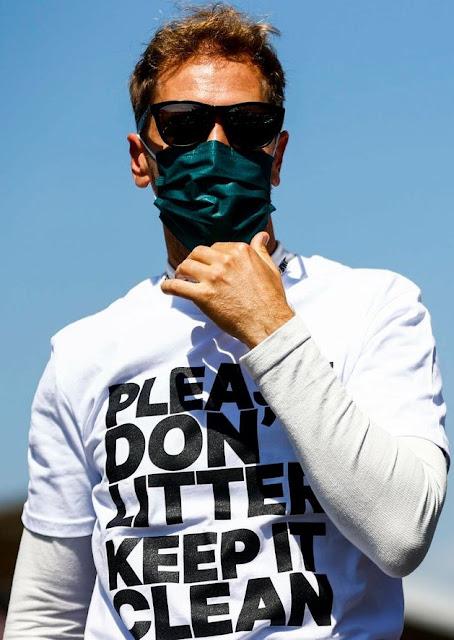 Please Don't Litter Keep It Clean Sebastian Vettel F-1 shirt.  PYGear.com