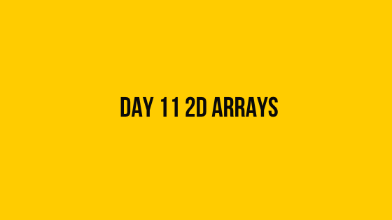 Day 11 2D arrays 30 days of code solution hackerrank