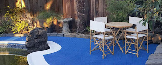 Greatmats perforated pool area tiles blue