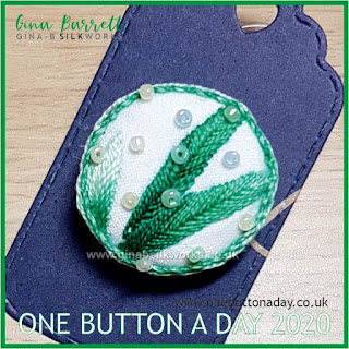 One Button a Day 2020 by Gina Barrett - Day 70 : Bamboo