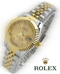 Jam Tangan Rolex Wanita Warna Emas
