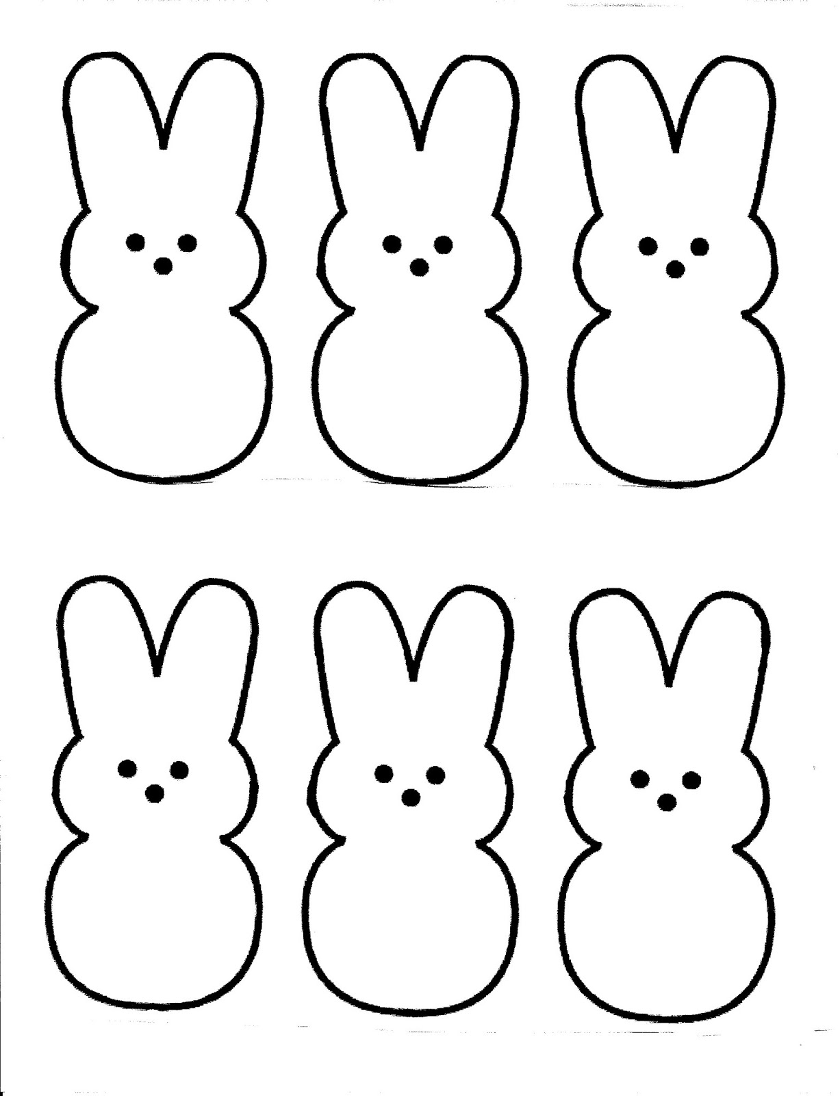 coloring pages free printable easter | Nanny's Nonsense: Easter peeps printable