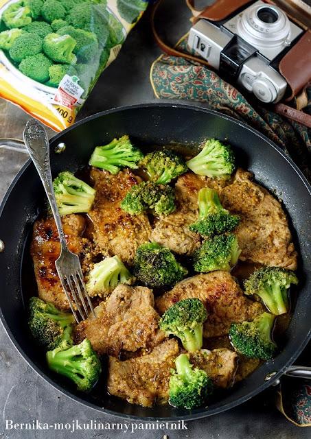 schab, brokul, musztarda, bernika, kulinarny pamietnik, obiad