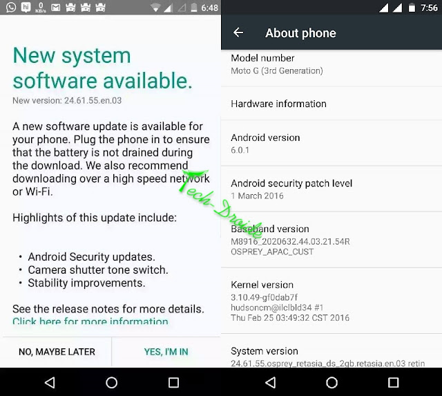 Android 6.0.1 update rolling out for Moto G 3rd Gen and Moto G Turbo in India