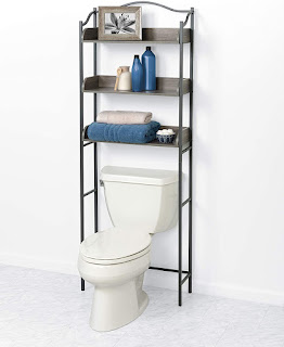 Zenna Home 3-Tier Over-The-Toilet Bathroom Spacesaver