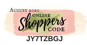 August 2020 Online Shoppers Code | Nature's INKspirations by Angie McKenzie