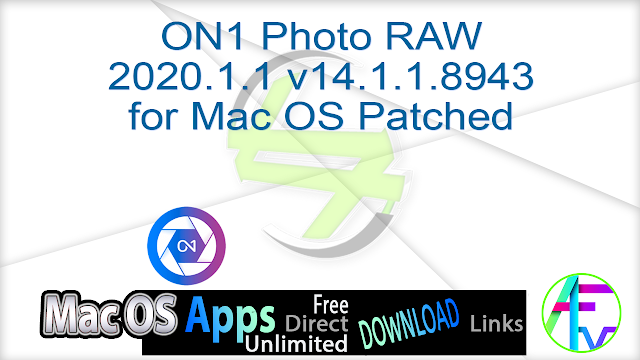 ON1 Photo RAW 2020.1.1 v14.1.1.8943 for Mac OS Patched