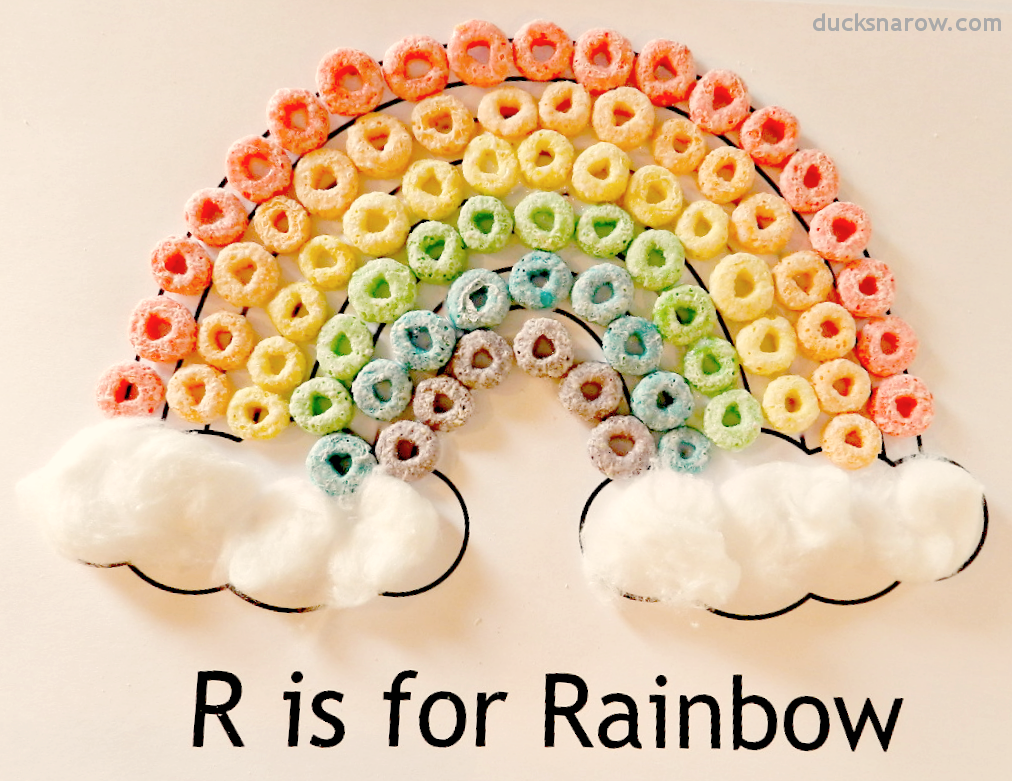 Rainbow+c Letter R Craft Colored Template on for preschoolers, free printable alphabet,