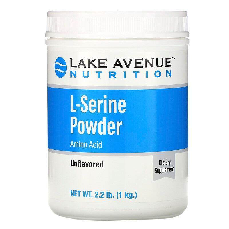 Lake Avenue Nutrition, L-серин в порошке с нейтральным вкусом, 1 кг (2,2 фунта)