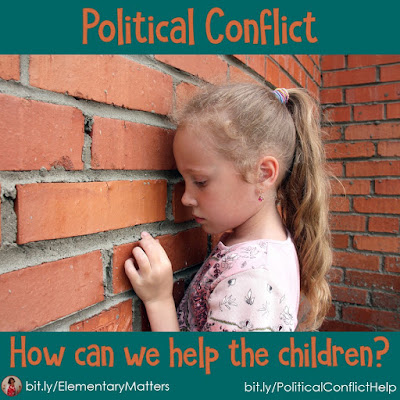 Political Conflict: How can we help the children? They're smart. They know there's a lot going on, and they're scared. Here are some ideas on helping them understand and worry less.
