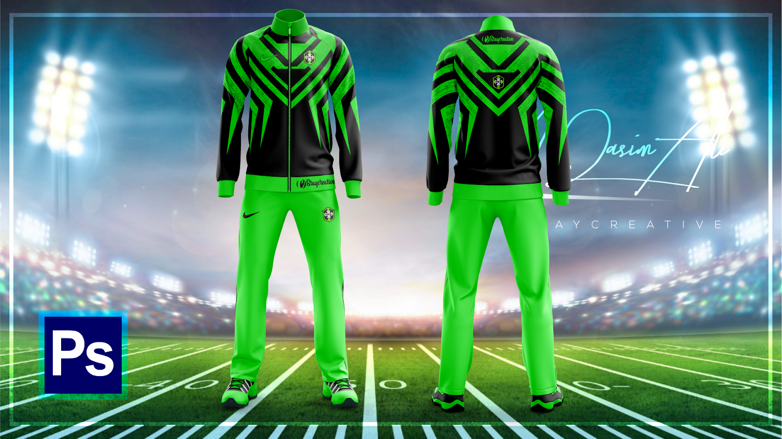 Cool Tracksuit Design Tutorial in Photoshop CC 2019 by M ...