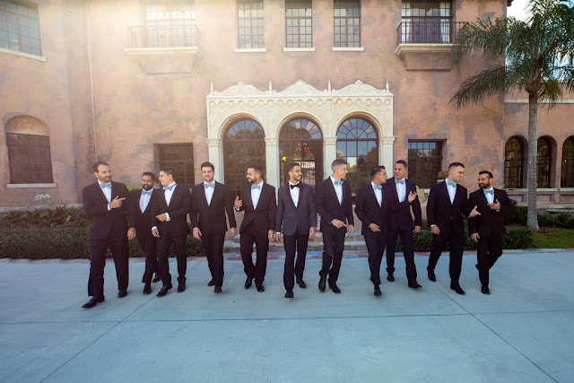classic formal groom and groomsmen