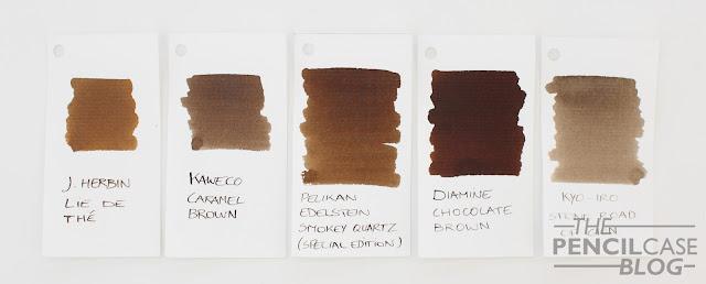 Inktastic: Pelikan Edelstein smokey Quartz ink review