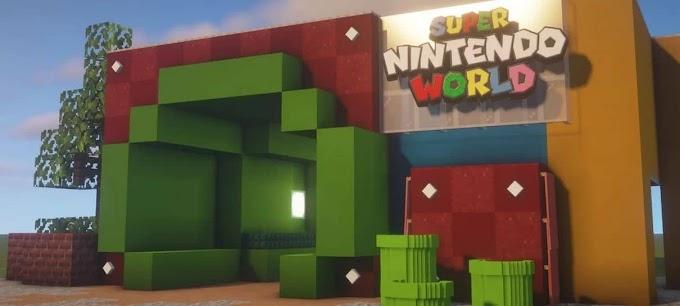 Fã recria Parque da Nintendo no Minecraft