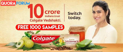 [ LOOT Offer ] Free Sample of Colgate Vedshakti ToothPaste