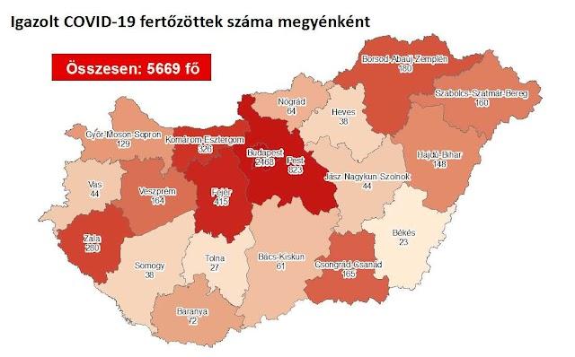 158 fővel emelkedett a beazonosított fertőzöttek száma és nincs újabb elhunyt