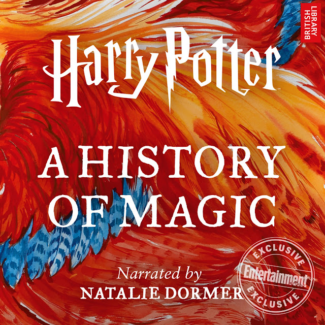 Capa do audiobook de 'Harry Potter: A History of Magic', narrado pela atriz Natalie Dormer (Margaery Tyrell de 'Game of Thrones') | Ordem da Fênix Brasileira