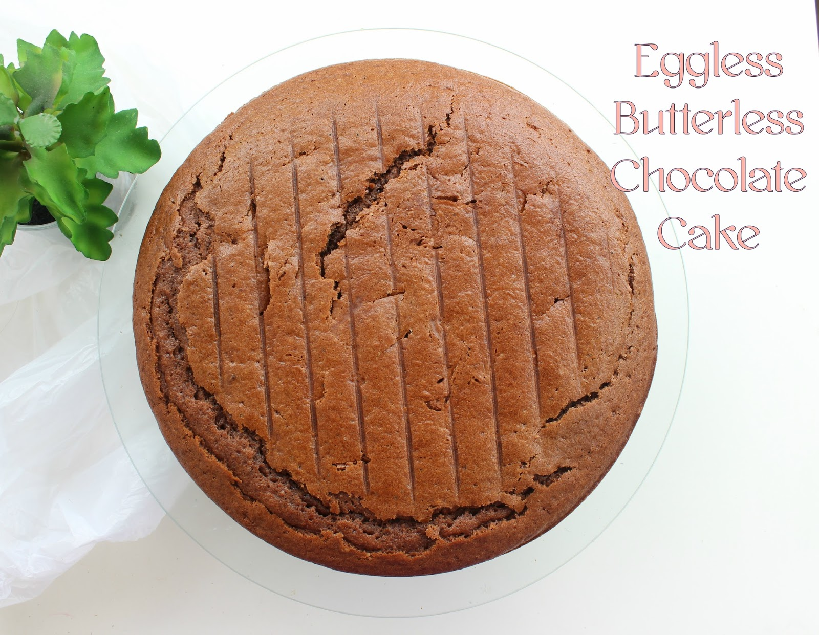 Eggless Butterless Chocolate Cake