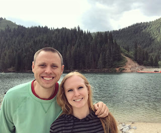 Picture of us at Tibble fork reservoir in Utah.