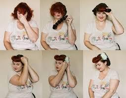 bumper bangs and vintage hair snood hair styling tutoria
