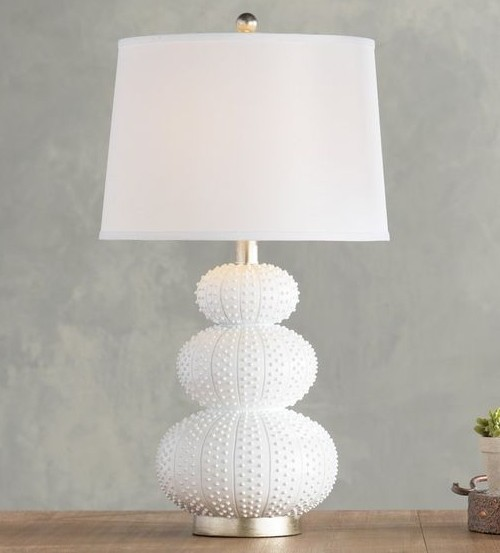 White Urchin Table Lamp