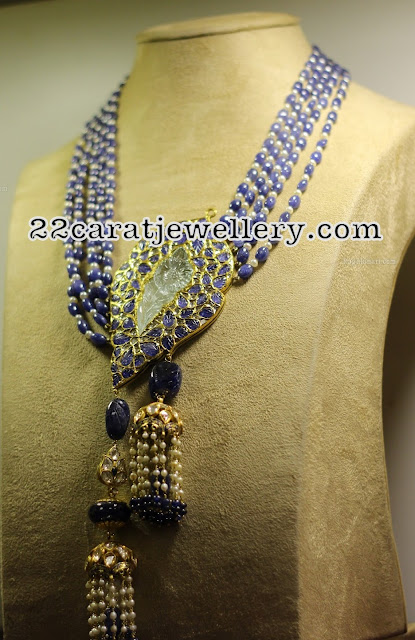 Precious Beads Set with Jhumka Pendant