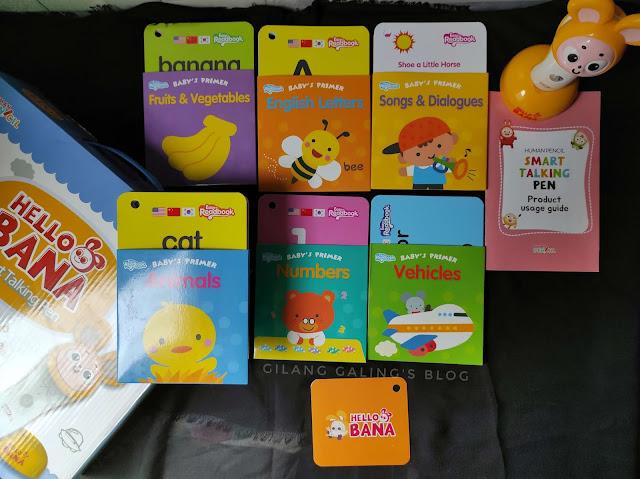 Home Educational Toys Smart Talking Pen Hello Bana Set untuk belajar bahasa Inggris, China, Korea untuk anak di rumah
