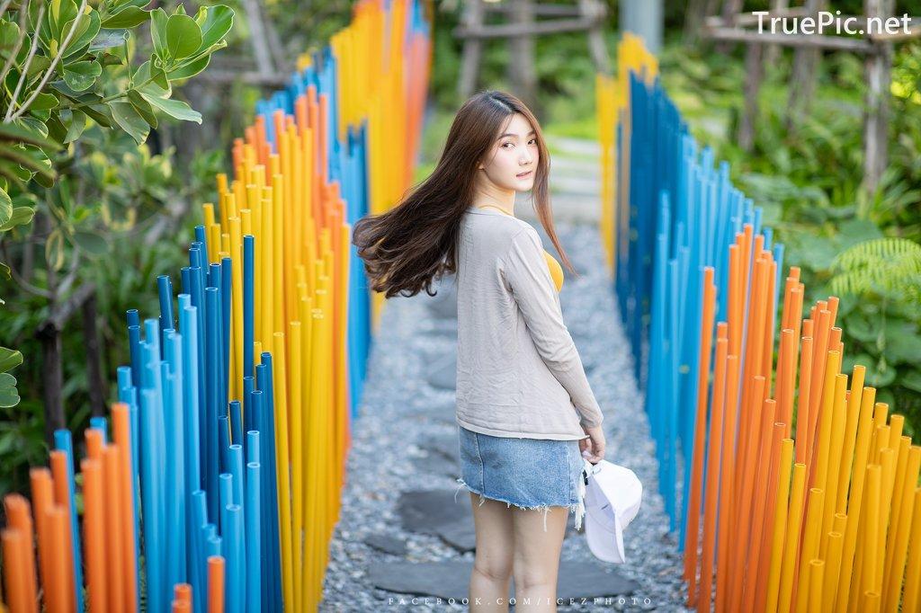 Image-Thailand-Cute-Model-Creammy-Chanama-Beautiful-Angel-In-Flower-Garden-TruePic.net- Picture-4