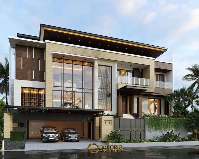 Desain Rumah Modern 3.5 Lantai