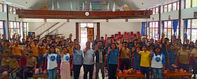 BNNK Tana Toraja Penyuluhan Bahaya Narkoba Bagi Generasi Muda di SMK Kristen Tagari