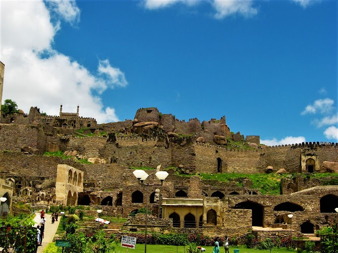 Golconda Fort at Ibrahim Bagh Hyderabad