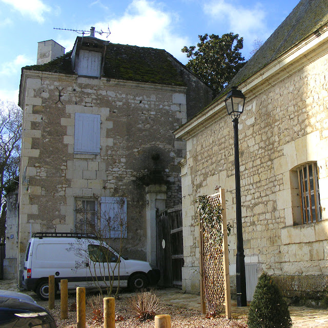 Back entrance to the Chateau des Ormes, Vienne, France. Photo by Loire Valley Time Travel.