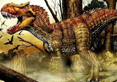Dibujo de un Tiranosaurio Rex muy enojado
