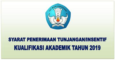 Syarat  Penerimaan Tunjangan/intensif Kualifikasi Akademik Tahun 2019