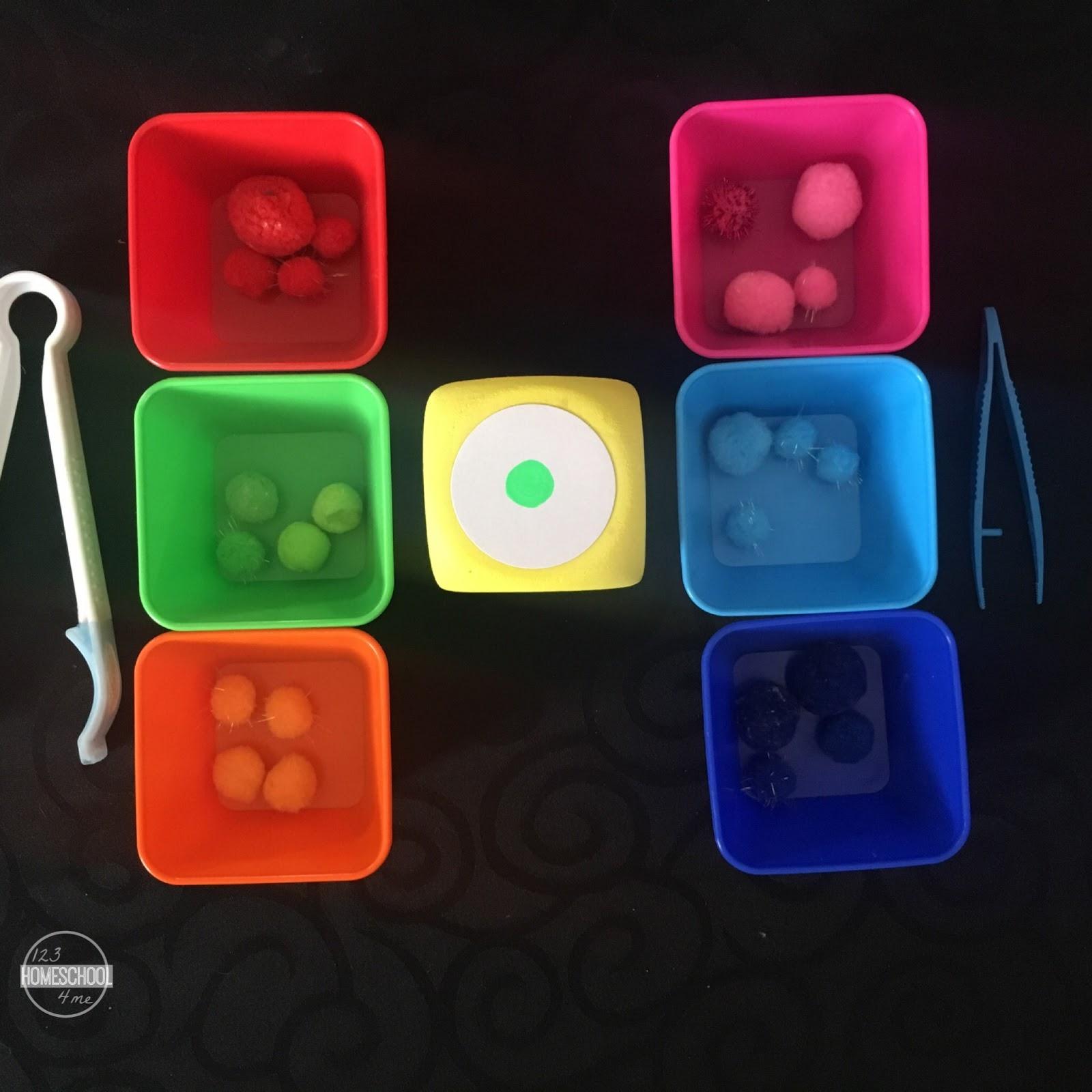Rainbow Pom Pom Color Sorting Game