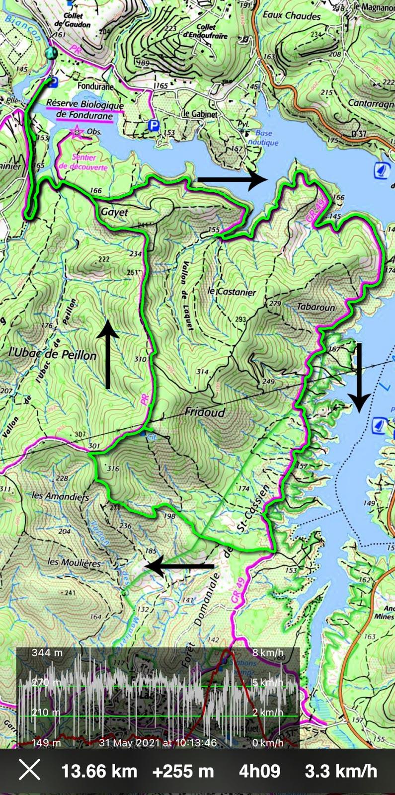 St-Cassien loop hike track