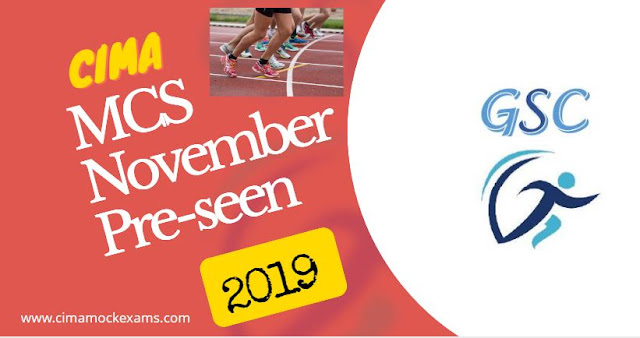 CIMA MCS November 2019 Pre-seen released - Management case study
