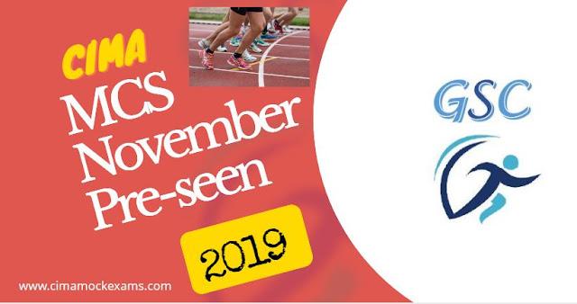 CIMA MCS November 2019 Pre-seen released - Management case study