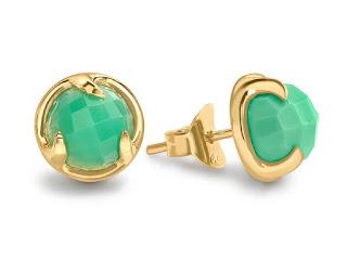 Modern Green Jewellery -  Missoma Chrysoprase Studs