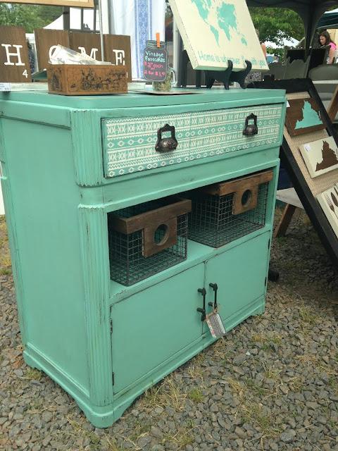 Vintage mint dresser