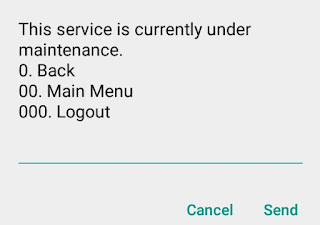 M-pesa services currently unavailable