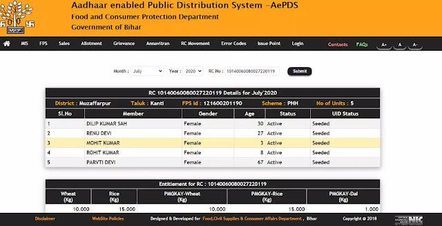one nation one ration card online registration