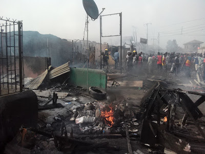 Must Read: Fire Accident occur at Shibir Ojo, Lagos (Video + Picture)