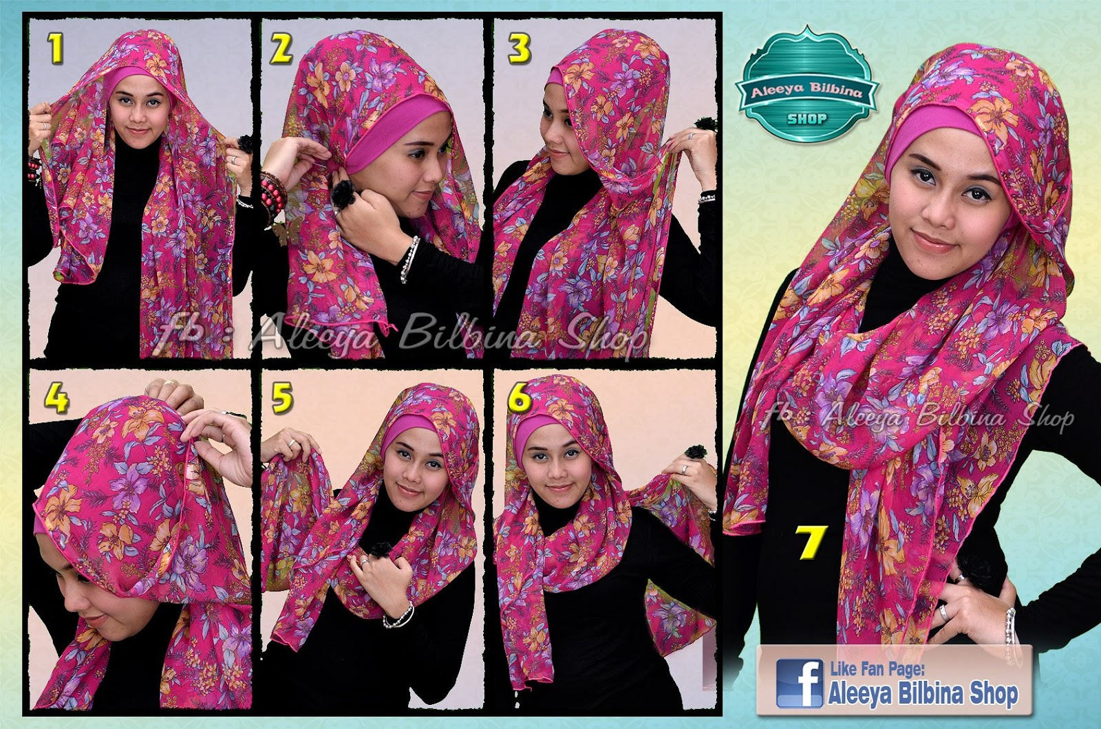 28 Foto Tutorial Hijab Paris Fatin Paling Update Tutorial Hijab