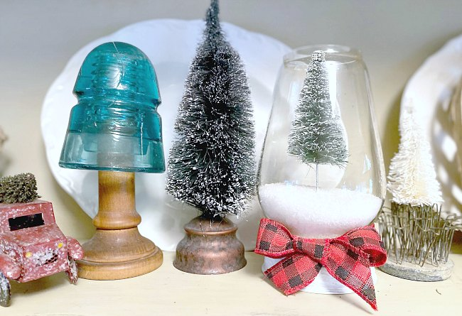 How to Make an Up-cycled Bottle Brush Christmas Tree Snow Globe